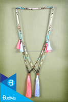 Free Shipping Top Model Bali Long Beaded Tassel Necklaces Layered in Handmade