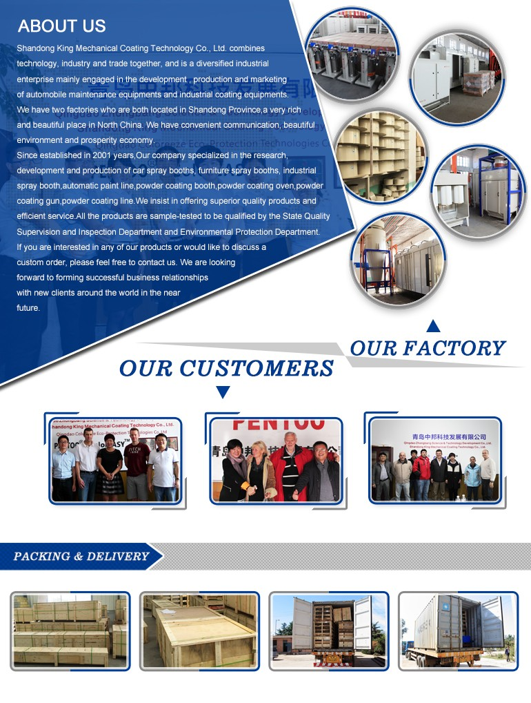 new automatic powder coating equipments production equipment