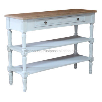 Indonesia Shabby Chic Furniture - Console with Drawer and Rack Shelves Indonesia Furniture