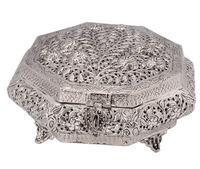 Indian Handicraft White Metal Dry Fruit Box From Rajasthan - Buy ...