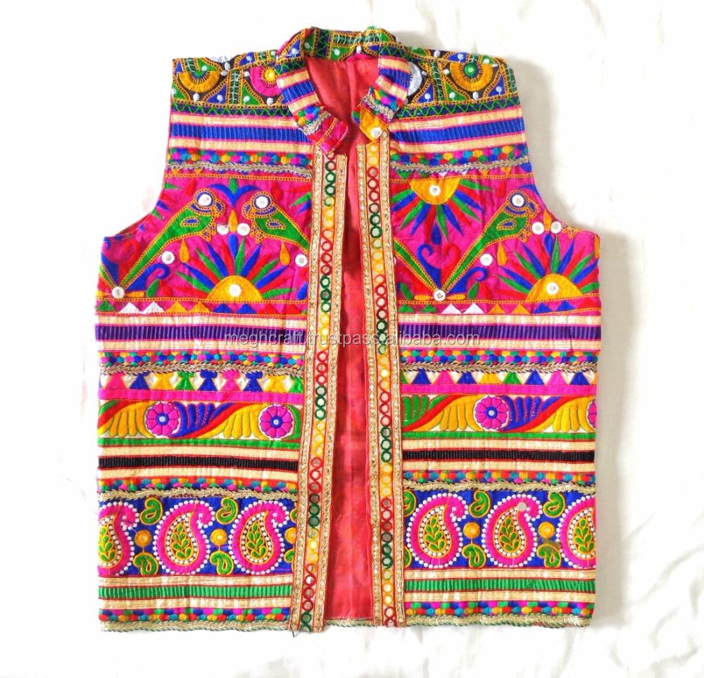 Indian Designer Mirror Embroidery Work Stylish Man Jacket Kutch