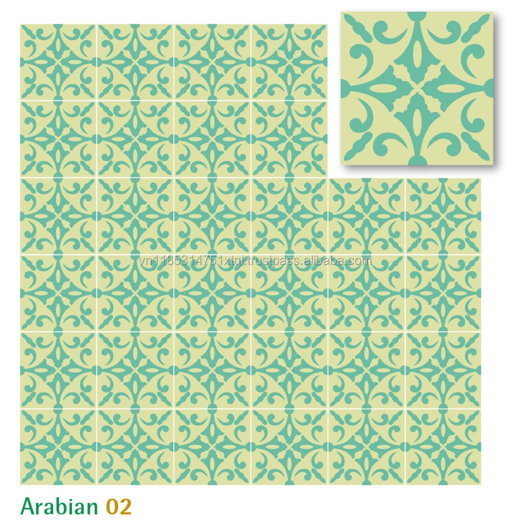 Cement Encaustic Tile - Arabian