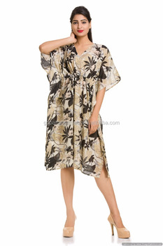 418779ec7a21 Girls Beach Wear Dress Tunic Stylish Sexy Bikini Cover Short Plus Size  Floral Knee Length Gown