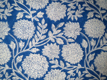 Handmade Block Printed Sanganeri Cotton Fabric Designer Floral Print Craft Sewing Dress Material Hand Crafted Natural Fabric