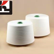 100% recycled polyester spun yarn/China poliester yarn for poliester 27s  best quality