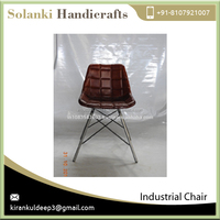 Top Quality Antique Finish Leather Chair for Home and Office Use