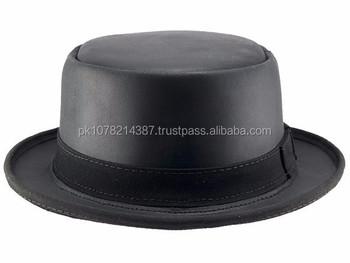 5422d60316765 2015 moda elegante cabeza marrón n casa Folsom Pork Pie sombrero de cuero  para hombre