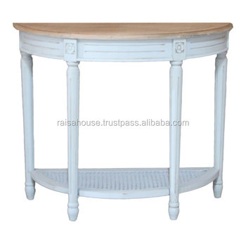 Shabby Chic Furniture Indonesia - Half Round Console Table Indonesia Furniture