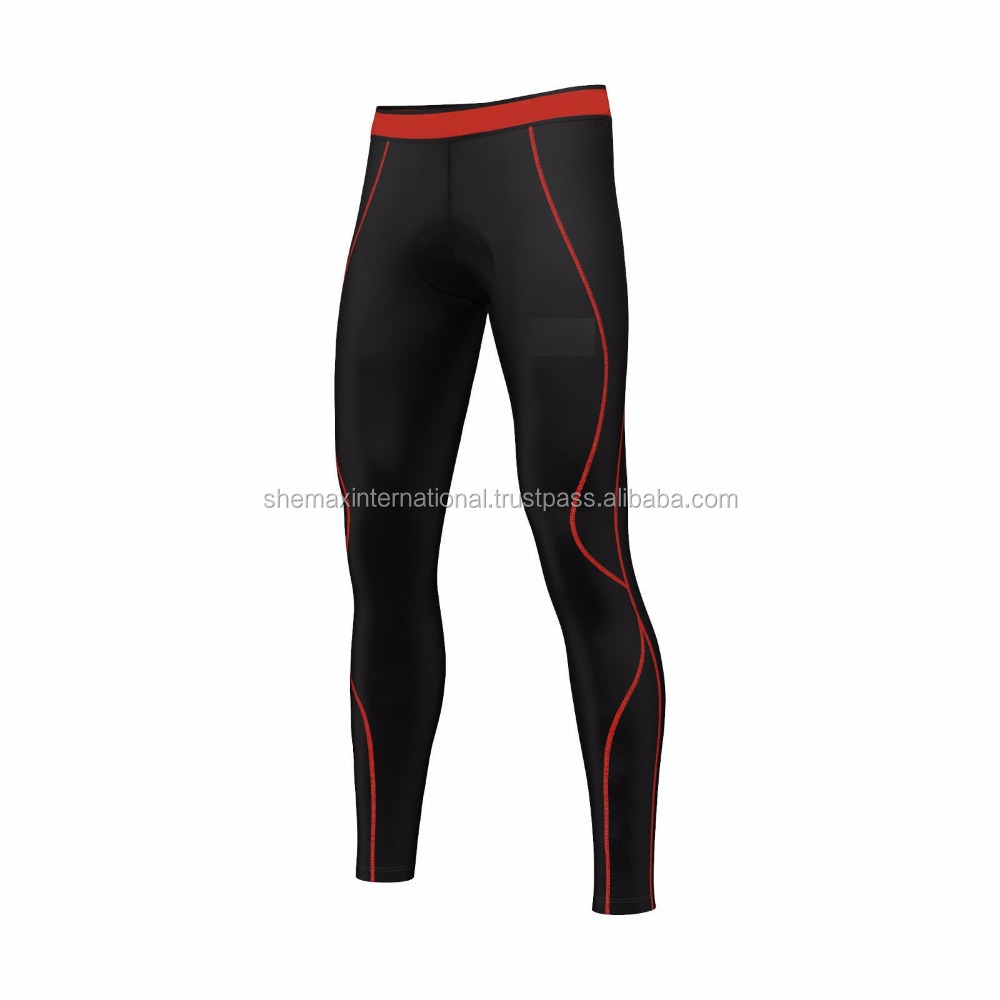 74795c4b9ef00 Mens Compression Cycling Tights Padded Cycle Leggings Long Pants