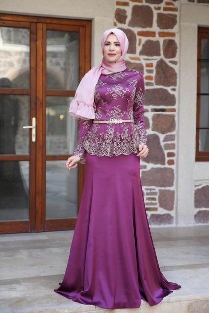 Long Sleeve Muslim Evening Dresses