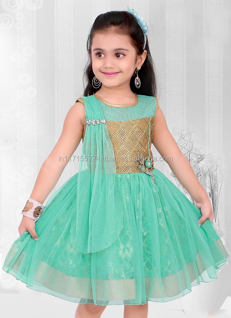 New Fashion Frocks Designs Kids Dress For Party Wedding Girls ...
