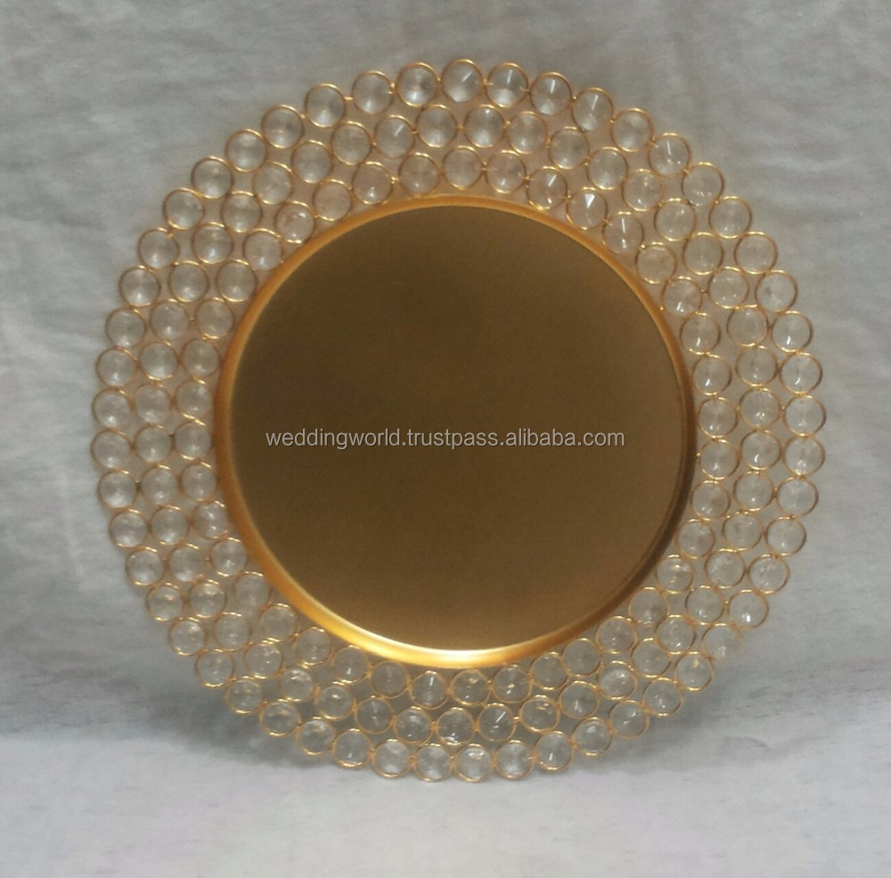 CRYSTAL CHARGER PLATES cheap plastic charger plates & Crystal Charger Plates Cheap Plastic Charger Plates - Buy Wedding ...