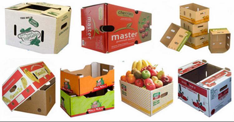 Farm Fresh Produce Wax Carton Box For Vegetable And Fruit