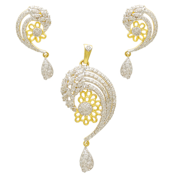 2017 new arrival peacock shape diamond and gold pendant set design 2017 new arrival peacock shape diamond and gold pendant set design aloadofball Images