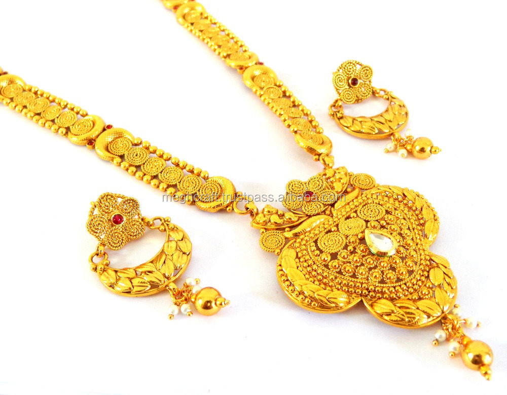 antique south design indian radha gold shree necklace jewellery designs india jewels