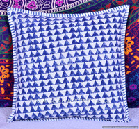 Indian Hand Block Print Work Cushion Covers, Rajasthani Art Design Pillow covers, Wholesaler of Cotton 16x16 Cushion Cover