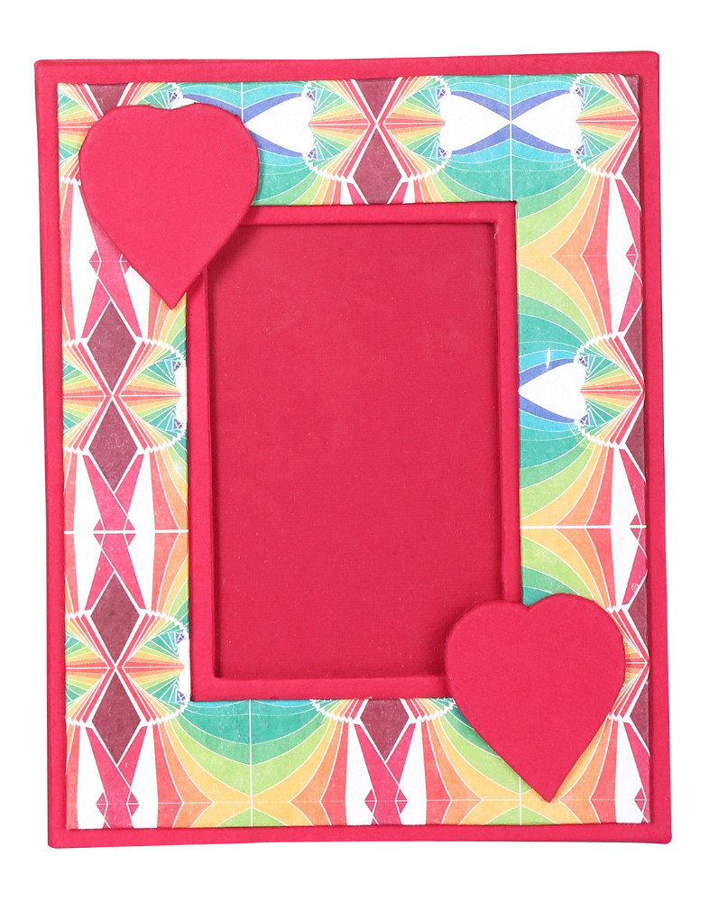 Hand Made Paper Red Heart Photo Frame Exporter For Valentine Gift