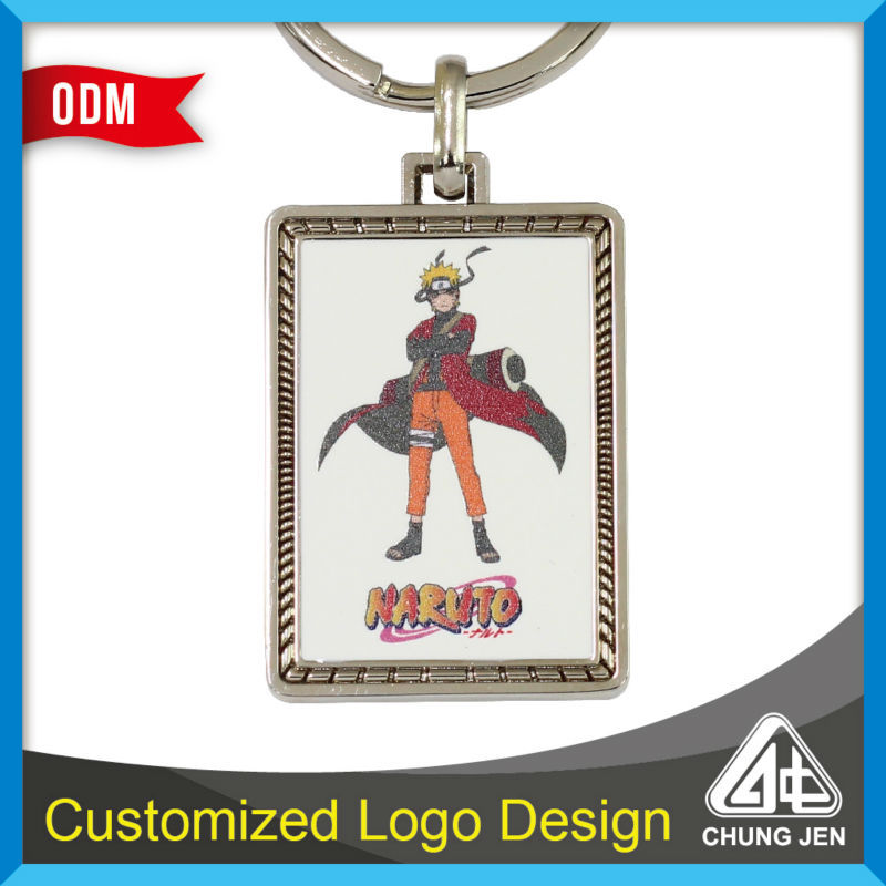 Customized Japanese comic naruto printing keychain