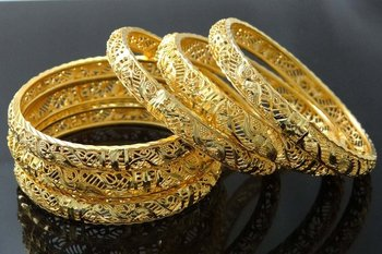 Indian Wedding Jewelry 18k Gold Plated Bangles Churi Set Woman Gift For Her 2