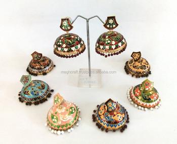Whole Meenakari Jewelry Jhumka Indian Traditional Earrings Party Wear Earring