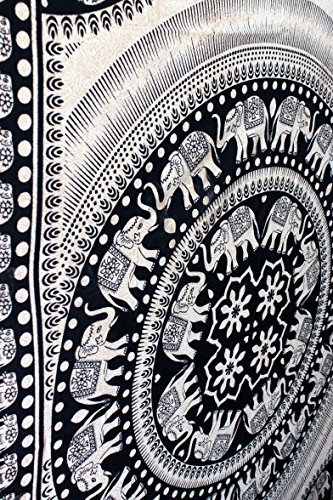 Twin Noir et Blanc Elephant Tapestry Wall Hanging Dorm Decor Hippie Tapisserie