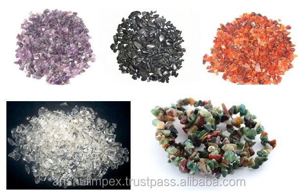 Mix Colored Dyed Pebble Stones for decoration