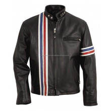 CAVALIER BLANC BANDE BIKER <span class=keywords><strong>VESTE</strong></span> <span class=keywords><strong>EN</strong></span> <span class=keywords><strong>CUIR</strong></span> HOMMES