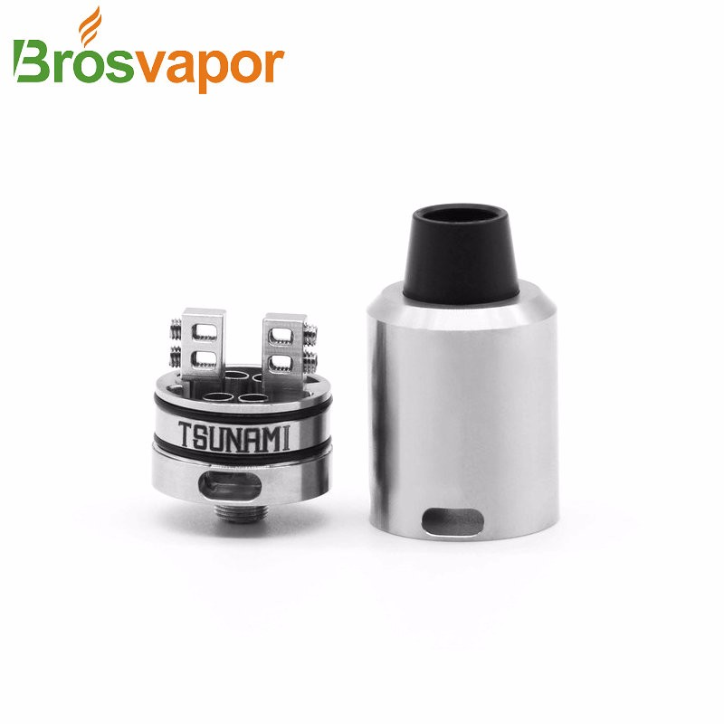 china suppliers New product Authentic Geekvape Tsunami 24 RDA Silver black Rebuildable Atomizer