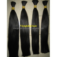 Best price high quality super double drawn straight silky bulk remy hair
