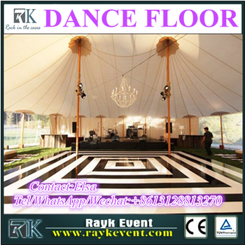 1m 1m Dance Floor Checker Black And White Dance Floor