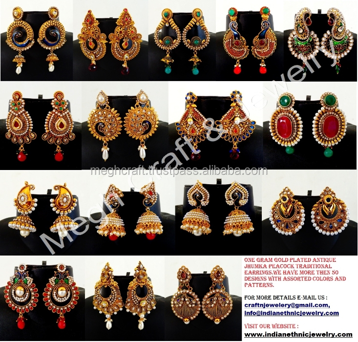 Indian Fusion Art Set Designer Thewa Jewellery Online Traditional Necklace