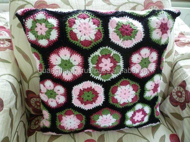 Crochet Encaje Bordes Cojín - Buy Bolsos De Ganchillo,Crochet Encaje ...