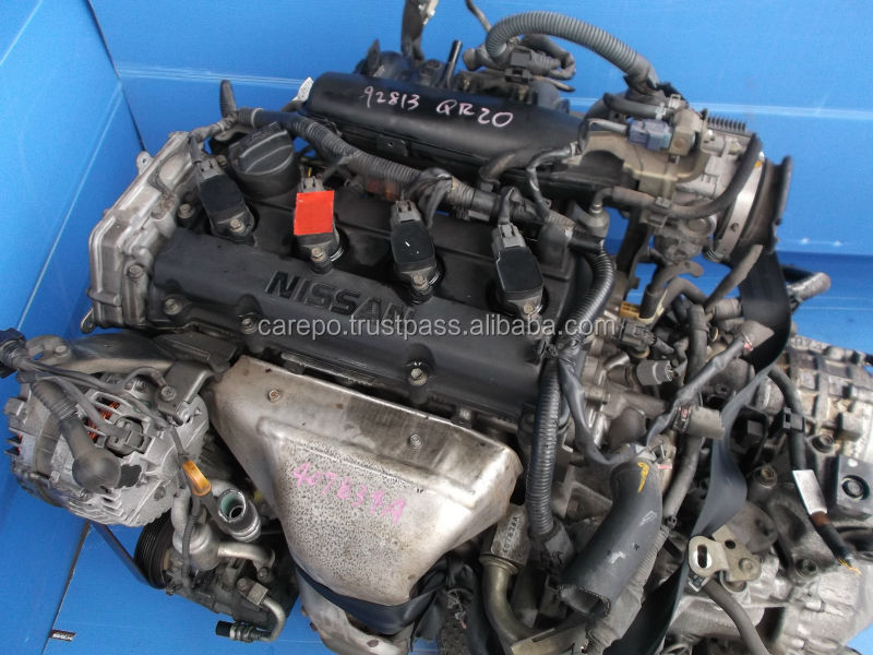 USED CAR ENGINE QR20 WITH GEARBOX (HIGH QUALITY) FOR NISSAN X-TRAIL,SERENA,PRIMERA.