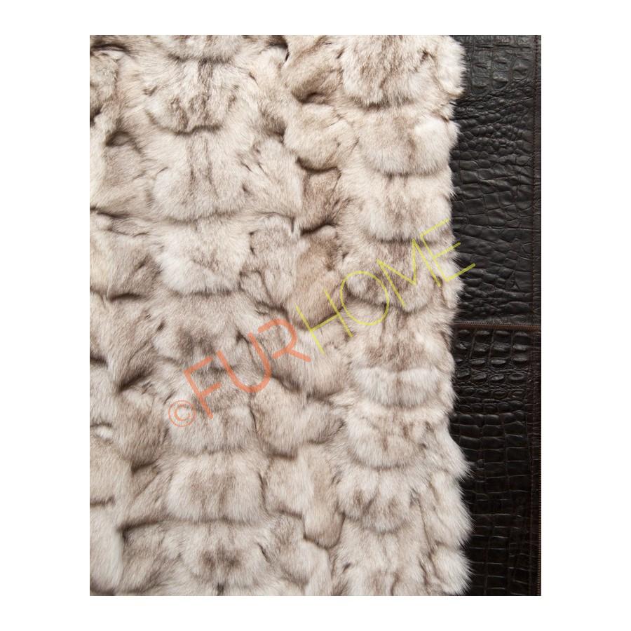 Plaid Echt Bont.Blue Fox Bont Tapijt Rokerige Witte Plaid Gooien Deken Frame In Zwart Echt Buy Bont Tapijt Product On Alibaba Com