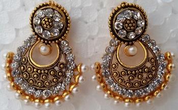 New Ethnic Indian Long Party Wear Ramleela Earrings Earring