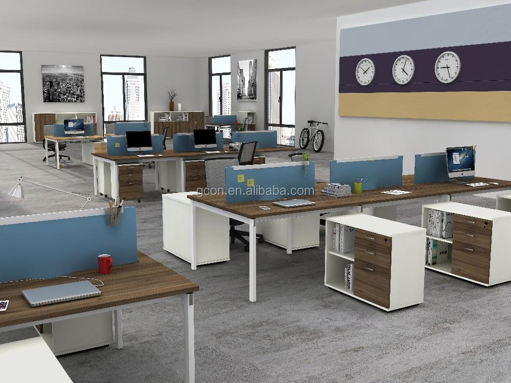 Modern Front Office Desk Design Office Furniture Mfc Wooden Computer