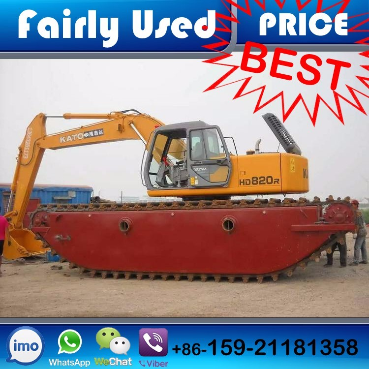 Used Floating Excavator for water working condition