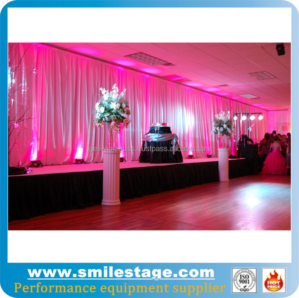 Wedding backdrop stand and chiffon wedding drape silk