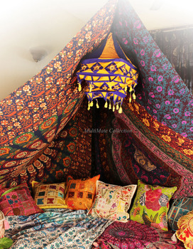 Yellow indian fabric lamp shades wall garden lantern embroidered yellow indian fabric lamp shades wall garden lantern embroidered ethnic lamp shade hanging mozeypictures Image collections