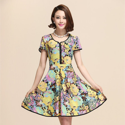 6bb992a5f4 2014 middle-aged middle-aged ladies summer dresses large size mother dress  short sleeve