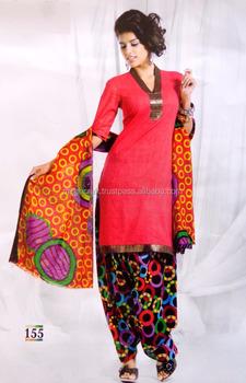 c44505f2b4 Wholesale Printed Salwar Kameez - Cotton Printed Suit - patiyala Suit -  Office Wear Dress -