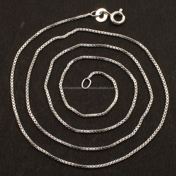 "0.90mm 1mm 2mm Box Chain Direct Factory Wholesale 925 Sterling Silver chain Necklace 16"" 18"" 20"" 22"" 24"" 26"" 28"" 30"""