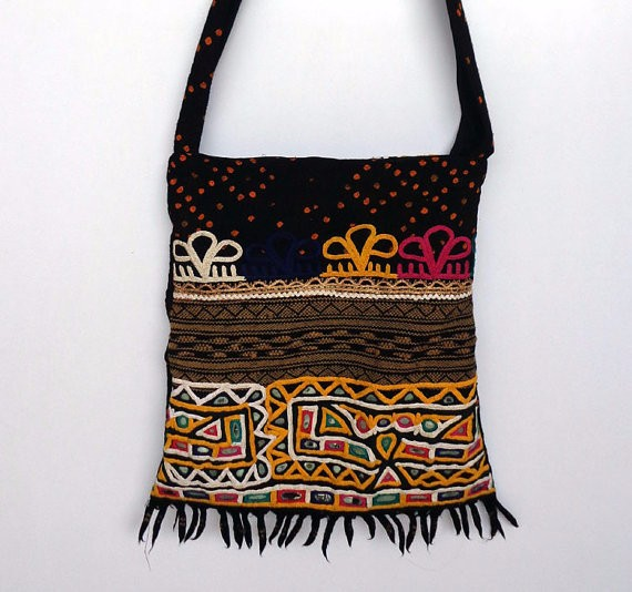Old Kutch Hand Work Sling Bag/ Mirror Work/indian Handcrafted ...