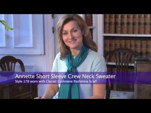 Cashmere Short Sleeve | Annette Short Sleeved Crew Neck Sweater