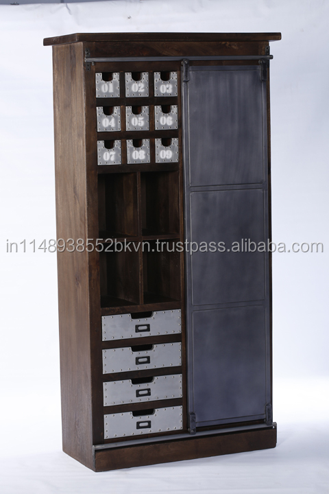 Industrial Wooden Bedroom Furniture Wardrobe Cabinet