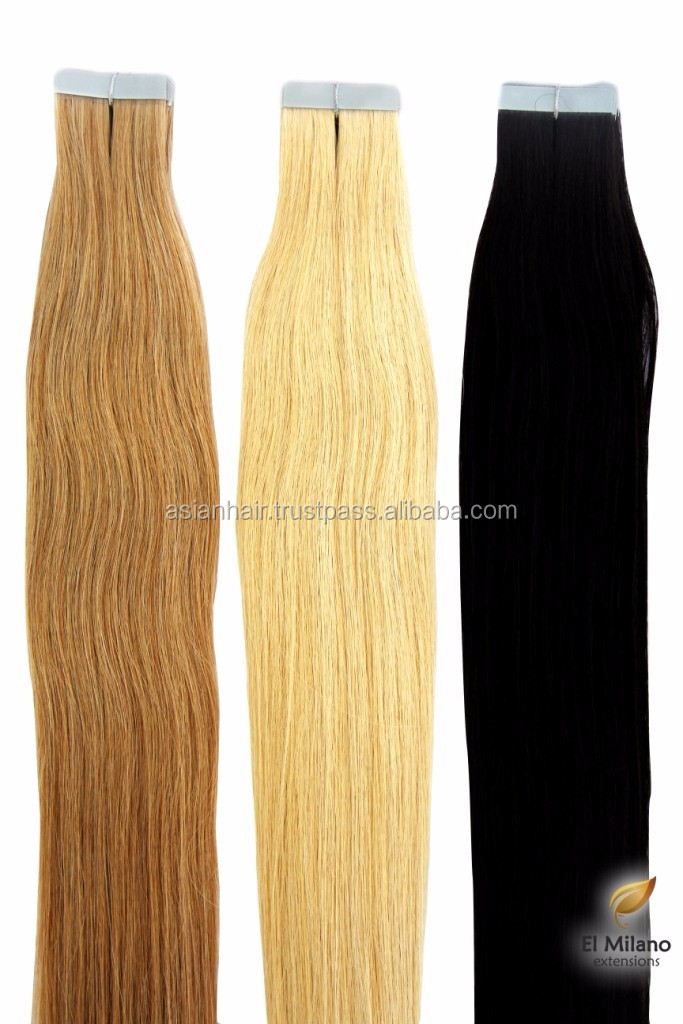 Tape In Remy Real Human Hair Top Grow Hair Extensions Virgin Natural