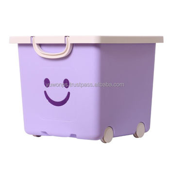 Plastic Storage Toy Box With Wheels