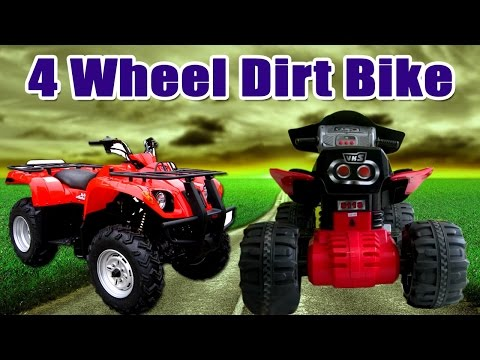 Ride on Toy Motorbikes | NEW Kids Toy Electric Red Motorcycle | 4 Wheel Dirt Bike For Kids