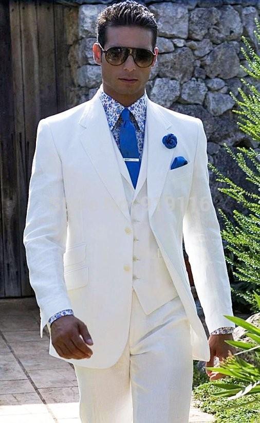 2017 New Style Bespoke White Coat Pant Mens Wedding Suit For Men ...