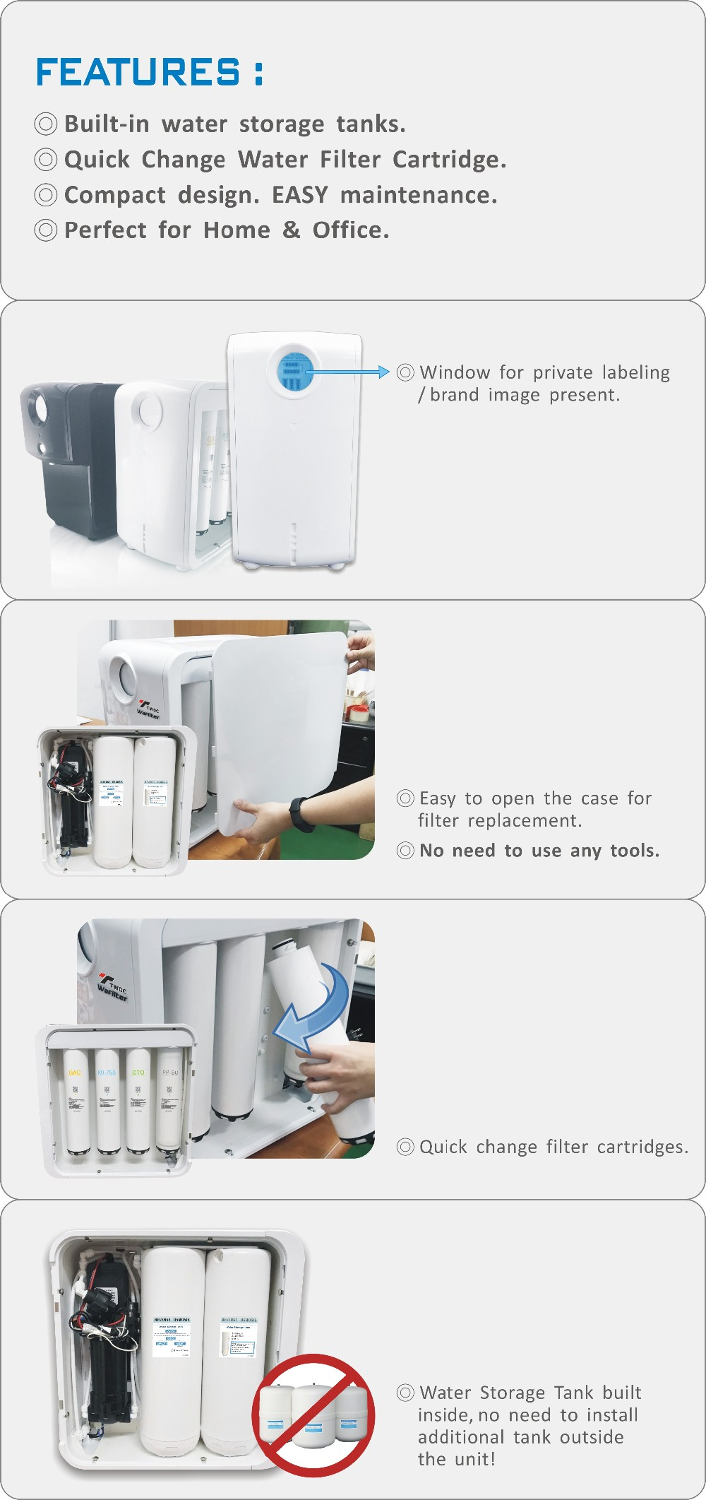 Made In Taiwan Water Purifier Cabinet For pact Ro System Buy
